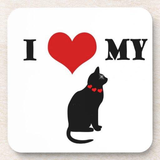 I corazón mi gato posavaso