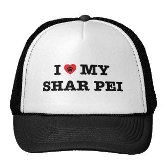 I corazón mi gorra del camionero de Shar Pei