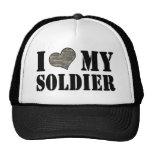 I corazón mi gorra del soldado