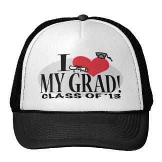 I corazón mi graduado 2013 gorros