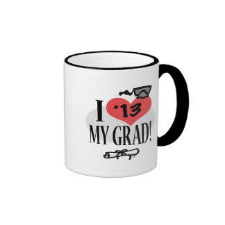 I corazón mi graduado 2013 tazas de café