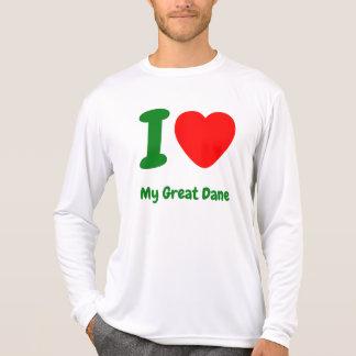 I corazón mi great dane playera
