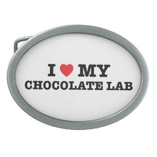 I corazón mi hebilla del cinturón del laboratorio hebilla cinturón oval