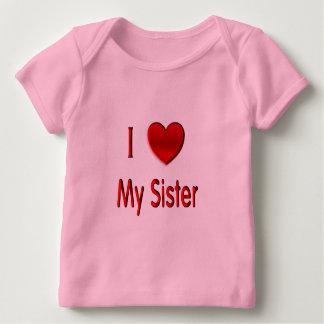I corazón mi hermana playera de bebé