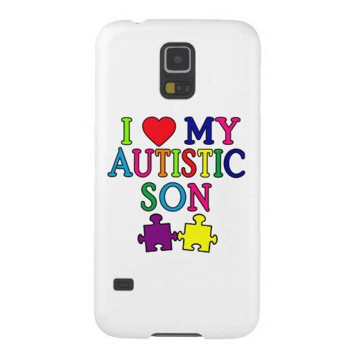 I corazón mi hijo autístico carcasa galaxy s5
