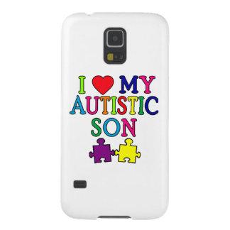 I corazón mi hijo autístico fundas para galaxy s5