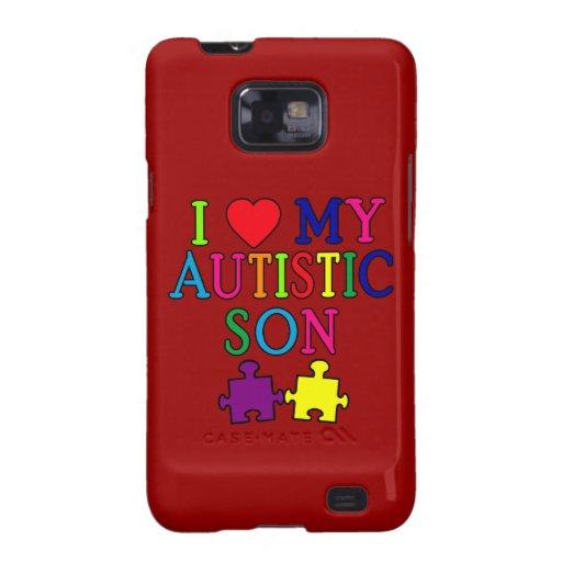 I corazón mi hijo autístico samsung galaxy SII carcasas