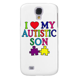 I corazón mi hijo autístico funda para galaxy s4