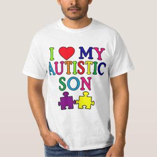 I corazón mi hijo autístico poleras