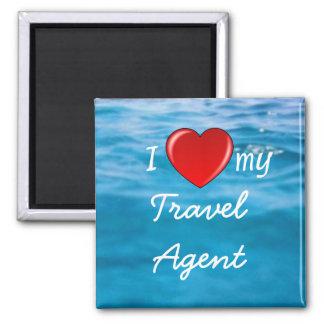 I corazón mi imán del agente de viajes