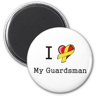 I corazón mi imán del soldado de la guardia