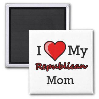 I corazón mi imán republicano de la mamá