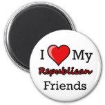 I corazón mi imán republicano de los amigos