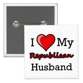 I corazón mi imán republicano del marido pins