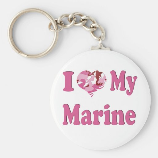 I corazón mi infante de marina llavero redondo tipo pin