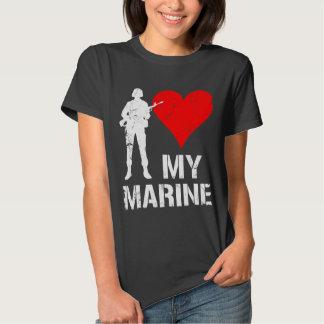 I corazón mi infante de marina playera