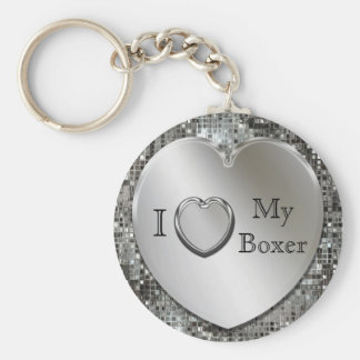 I corazón mi llavero del corazón del boxeador