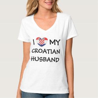 I corazón mi marido croata remeras