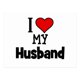 I corazón mi marido postal
