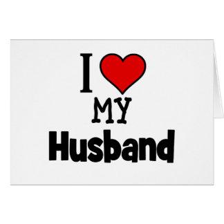 I corazón mi marido tarjeta de felicitación
