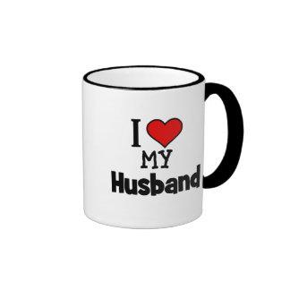 I corazón mi marido taza de dos colores