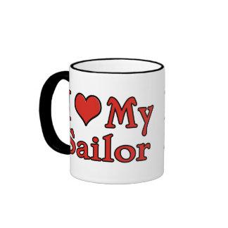I corazón mi marinero taza de dos colores