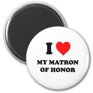 I corazón mi matrona del honor imanes de nevera