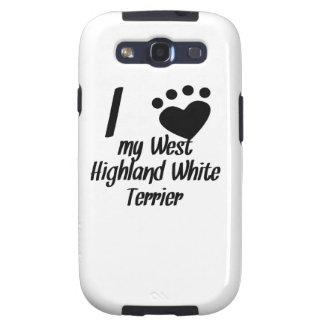 I corazón mi montaña Terrier blanco del oeste Galaxy S3 Cobertura