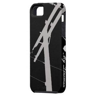 I (corazón) mi negro del caso del iPhone 5 del iPhone 5 Carcasas