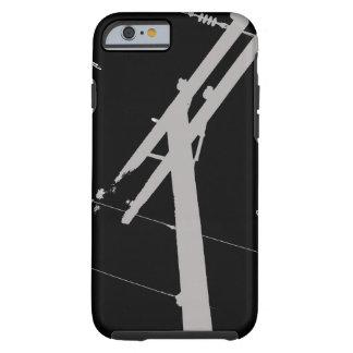 I (corazón) mi negro del caso del iPhone 6 del Funda Para iPhone 6 Tough