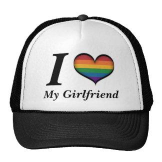 I corazón mi novia gorros