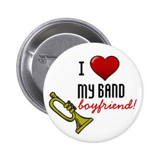 I corazón mi novio de la banda pin redondo de 2 pulgadas