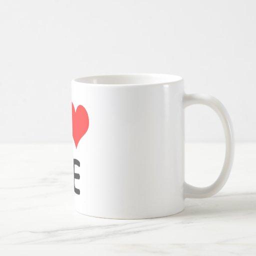 I corazón mi novio taza de café