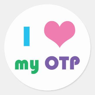 I corazón mi pegatina de OTP