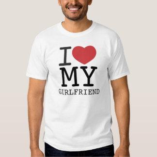I CORAZÓN MI personalizable de la NOVIA Camisas