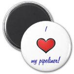 I (corazón) mi pipeliner imanes de nevera
