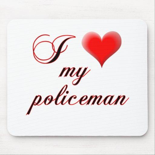 """I """"corazón"""" mi policía alfombrilla de ratón"""