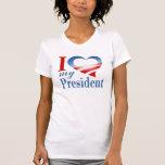 I corazón mi presidente camiseta