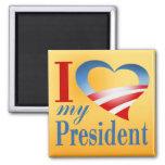 I corazón mi presidente Magnet (amarillo) Iman Para Frigorífico