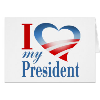 I corazón mi presidente tarjeta de felicitación