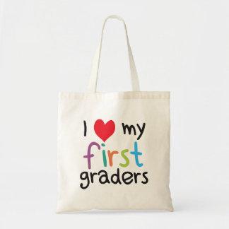 I corazón mi primer amor del profesor de los bolsa tela barata