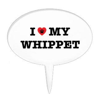 I corazón mi primero de la torta de Whippet Figura De Tarta