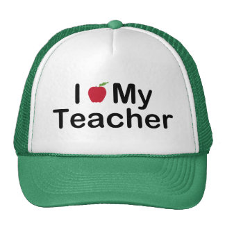 I corazón mi profesor gorros