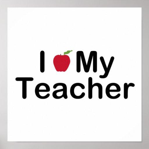 I corazón mi profesor póster