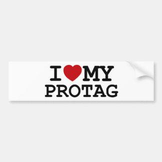 I corazón mi Protag Etiqueta De Parachoque
