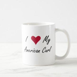 I corazón mi rizo americano tazas