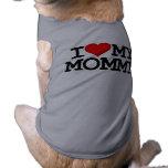 I corazón mi ropa del perro de la mamá camisetas de perrito