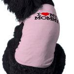 I corazón mi ropa del perro de la mamá ropa perro