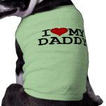 I corazón mi ropa del perro del papá ropa perro