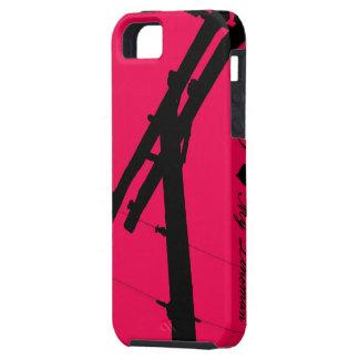 I (corazón) mi rosa Funda-Caliente del iPhone 5 de iPhone 5 Fundas
